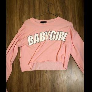 Pink crop sweater/ top
